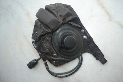 Retired China Air Force MiG-15 Jets Fighter Pilot Leather Flight Helmet