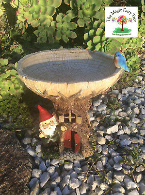 29cm gnome house bird feeder planter fairies garden