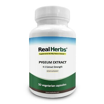 Real Herbs Pygeum 4:1 Extract 500Mg – 50 Vegetarian Capsules