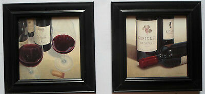 Frame print french provincial kitchen vintage wine cabernet picture