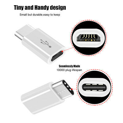 Pack USB-C Type C 3.1 Male to Micro USB Female Adapter Converter Connector