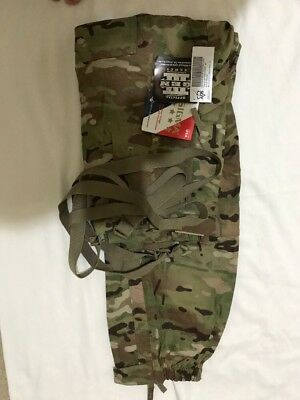 US GI Multicam Soft Shell Level 5 FR Pants With Suspenders Small Reg. New