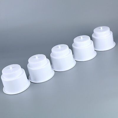 ( Set of 5 ) White Recessed Drop in Plastic Cup Drink Can Holder with Drain