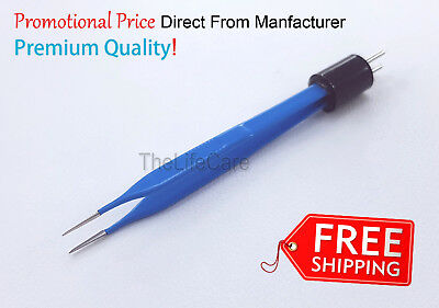 McPherson Bipolar Forceps Straight Reusable 0.5 mm Tip Electro surgical Tools 1x