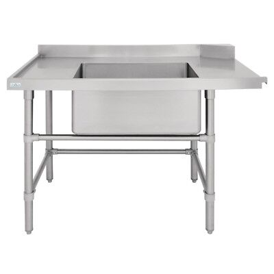 Vogue Dishwasher Inlet Table with Sink L 1800mm Stainless Steel