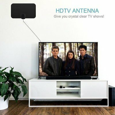 Digital HDTV Indoor Freeview Antenna with TV Aerial  50 Mile Range-Thin