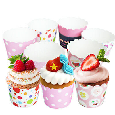 50Pcs Cupcake Wrapper Paper Cases Liners Muffin DIY Dessert Baking Cup Tool