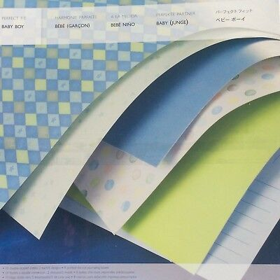 """Creative Memories PERFECT FIT BABY BOY PAPER PACK  - 10 SHEETS 11.5"""" X 12"""""""