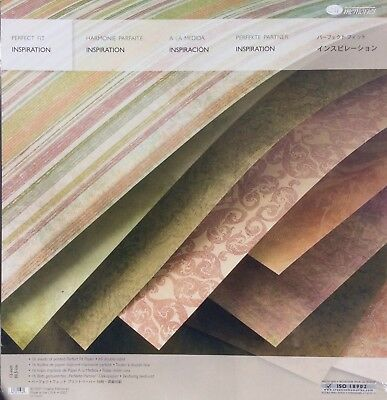 """Creative Memories PERFECT FIT INSPIRATION PAPER PACK - 16 SHEETS 11.5"""" X 12"""""""
