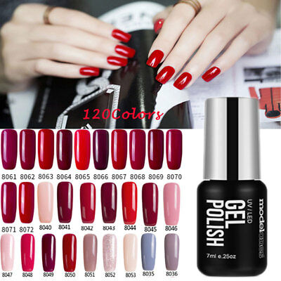 Modelones Unghie Uv Led Smalto Gel Nail Polish Semipermanenti 120 Colore 7Ml