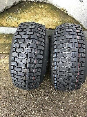 2 x 11x4.00-5 Ride on Mower Turf Tyres 4PR TL Deli S-365 - TWO TYRES