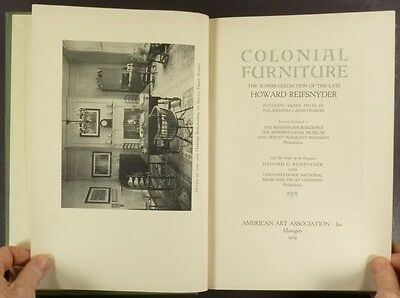 1929 Howard Reifsnyder Antique American Furniture Collection Auction Catalog