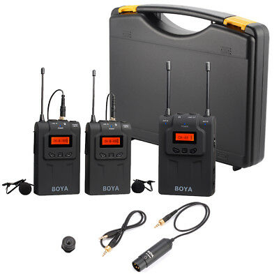 BOYA BY-WM8 UHF Wireless Lavalier Microphone System for ENG DSLR Camera LF778