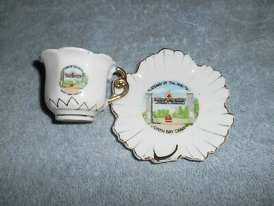 Mini Cup & Saucer - North Bay Canada - By Metropolitan Ind. L.t.d. Canada