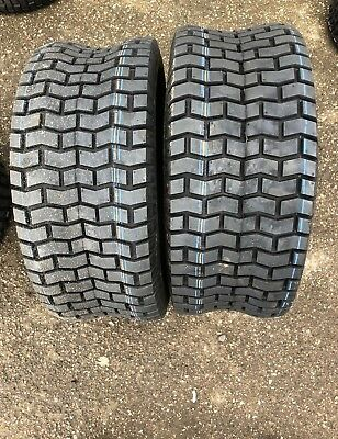 2 x 20x8.00-8 Ride on Mower Turf Tyres 4PR TL Deli S-365 - TWO TYRES (NEW)
