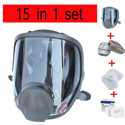 15 in 1 Suit  For 3M 6800 Full Facepiece Reusable Respirator Full Face Gas Mask