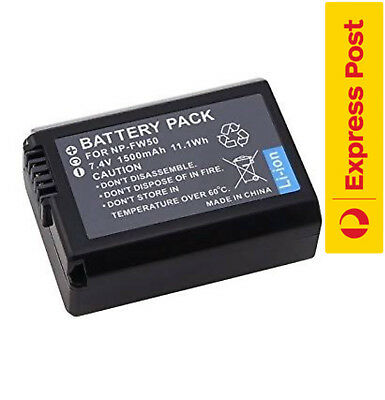 [ X 1 ] Premium Battery for Sony NP-FW50 & Alpha a5000,a5100,a6000,ILCE-QX1