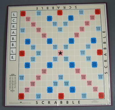 Vintage/retro Scrabble game replacement board (only)- Murphett burgundy
