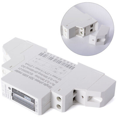 AC Electric Watt Hour Meter Digital Single Phase DIN Rail KWH 5(30)A 50Hz BI041