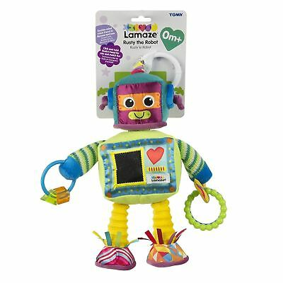 Lamaze Rusty the Robot Clip On Pram and Pushchair Baby Toy