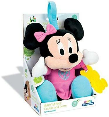 New Clementoni Disney Baby Cuddle & Learn Baby Minnie Mouse Soft Plush Toy