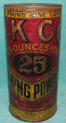 Vintage K C Baking Powder, Old Stock, 25oz for 25 Cents Jaques Mfg. Chicago, ILL