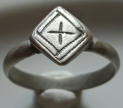 CRUSADERS ** CROSS ** Silver RING ** RARE EARLY CHRISTIAN ** BEAUTIFUL