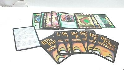 Harry Potter Trading Card Game 2001 ~ Lot of 28 Quidditch Cards with rules card