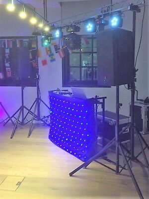 Starlight Dj 120 Blue Led Starcloth Dj Lighting Equipment 4Ft Dj Stand