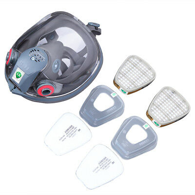 7In1 Facepiece Respirator Chemical spray Painting For 3M 6800 Full Face Gas Mask