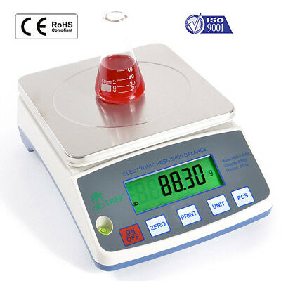Precision Lab Balance 3000g Hrb3001 Scale Weigh Portable Digital 0.1g increments