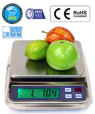 Waterproof Weighing Scale 3000g Mrw3000 Fish Meat Retail Memory Portable by 0.1g