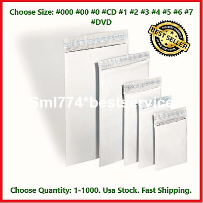 Poly Bubble Mailers Shipping Mailing Padded Bags Envelopes Self Seal *Any Size*