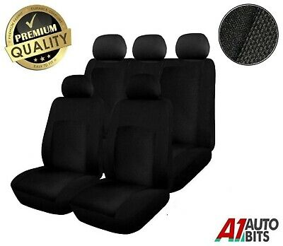 Isuzu D-Max 2012 9 Pcs Heavy Duty Black Full Set Waterproof Seat Covers