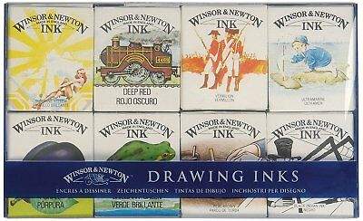 Winsor & Newton The William Collection Set Drawing Inks 14ml 8 Colours