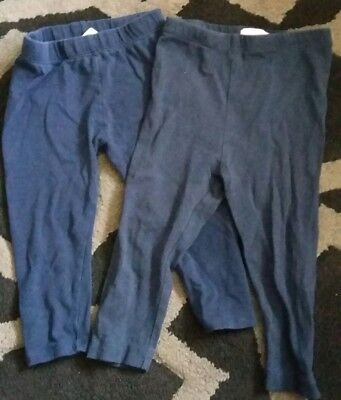 BLUEZOO/J.Conran Bundle of Navy Leggings Size/age 12-18 month toddler/baby/girls