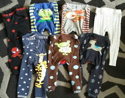 Bundle of 7 Knitted Leggings Size/age 12-18-24 months toddler/baby/girls/boys