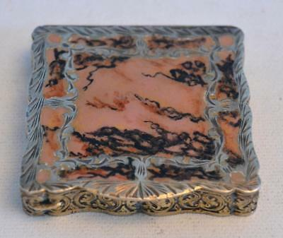 Vintage 1920s Italian Silver and Enamel Compact