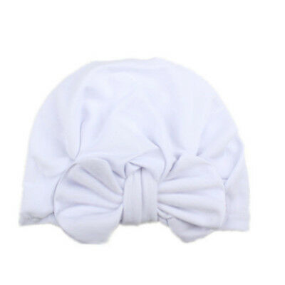 Fashion Turban Cap Baby Bow Hat Outdoor Bowknot 5 Colors Cotton Cute