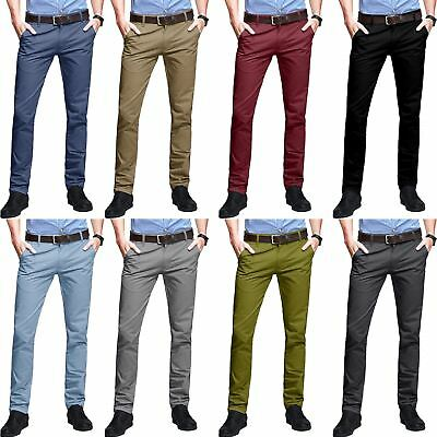 Mens WestAce Skinny Fit Chino Stretch Casual Jeans Cotton Trousers Designer Pant