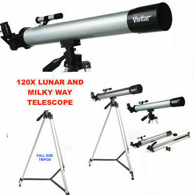 Hd Refractor Telescope 75X-150X With Full Size Tripod Free Fast Shipping