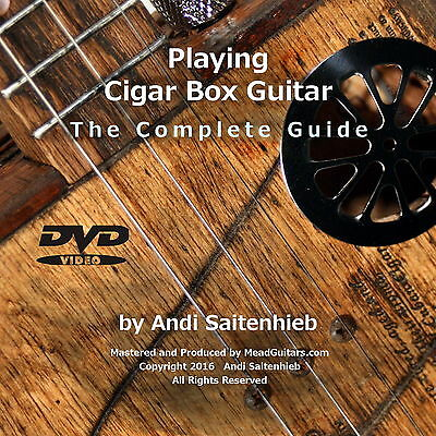 Learn How to Play 3 String Cigar Box Guitar DVD/Lessons/Tutorial - 3.5 hrs! NEW