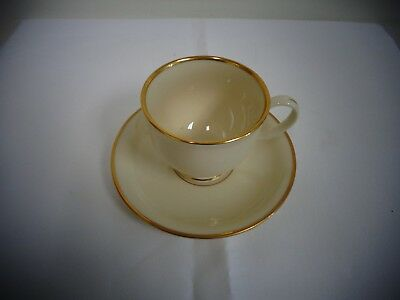 Lenox Presidential Collection Mansfield Cream Gold Cup & Saucer