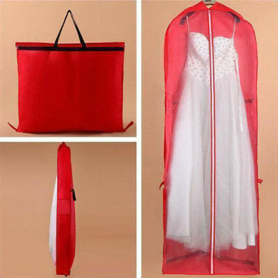 Non-woven Long Garment Dress Bridal Wedding Storage Bag Cover Dust-proof Pouch