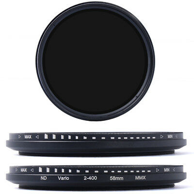 58mm Slim Fader Variable ND Filter Neutral Density Adjustable ND2 to ND400 LF111