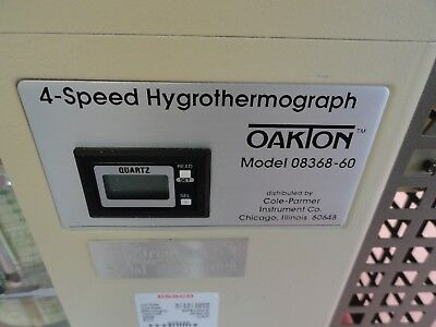 Oakton / Cole-Parmer  4-Speed Hygrothermograph, Model 8368-60
