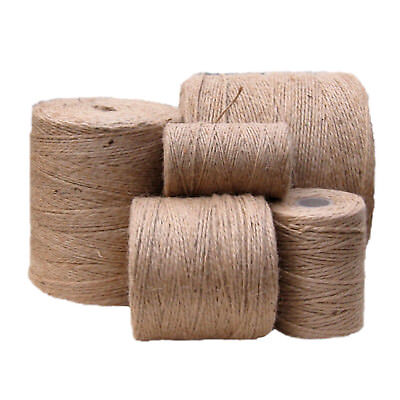 10m-1000m Metre Natural Brown Shabby Style Rustic Twine String Shank Craft Jute!