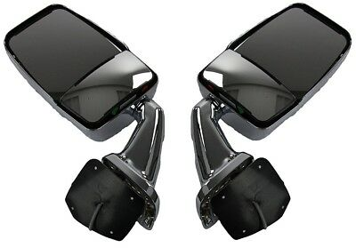 Velvac 713807 & 713808 Heated Chrome Passenger/Driver Side Mirror Set