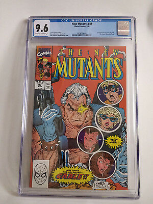 New Mutants 87 CGC 9.6 White to off White Pages 1st app of Cable Marvel Liefield