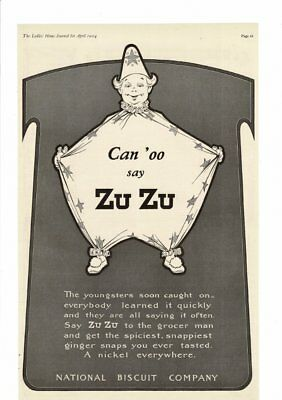 Vintage 1904 National Biscuit Co. Can 'oo Say Zu Zu Wizard Ad Print #b343